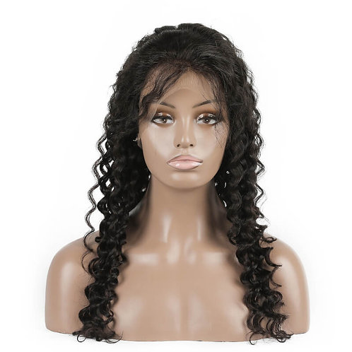 Virgin Hair Peruvian Deep Wave Lace Front Wigs