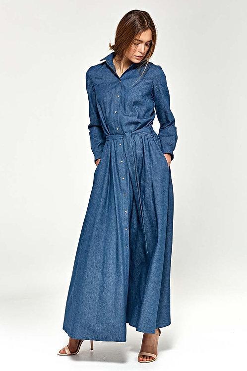 Jeans High Waist Maxi Dress