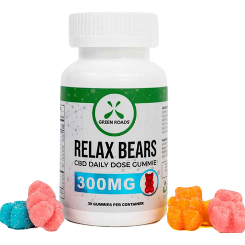 Green Roads: CBD Relax Gummy Bears (300mg)