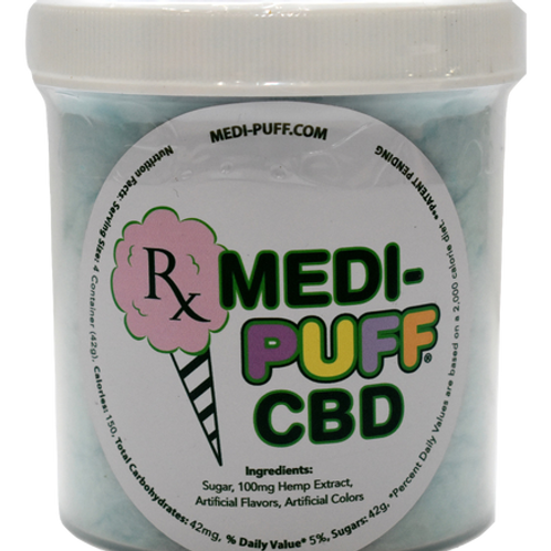 Medi-Puff: Mini Blue Raspberry CBD Cotton Candy (10mg)