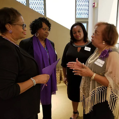 Judge Patricia Wise, Dr. Laverne Gentry, Judge Crystal Wise Martin and Flonzie.