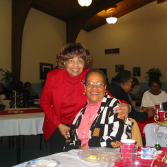 Flonzie and the late Dr. Jerrie McGill (Flonzie's Book Editor).