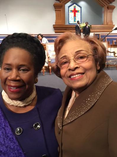 Congresswoman Sheila Jackson Lee and Flonzie.