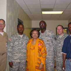 Flonzie and Military Officers at High School