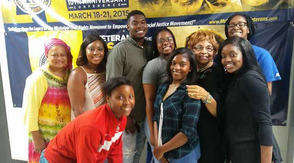 Flonzie talked to students from Tougalkoo College. Professor Ayesha Mustafaa coordinated the meeting.