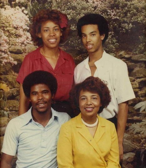 Flonzie and her children, Edward, Darrell and Cynthia, 1977