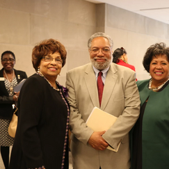 Flonzie, Lonnie Bunch, Reena Evers Everette as Pam Junior looks on.