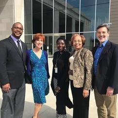 MPB Staff -Taiwo Gaynor, Edie Greene, Pam Junior (Ms. CIvil Rights Museum), Flonzie and John Gibson