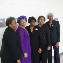"""Personal Friends and """"Sheroes"""" Jewell Williams, Flonzie, Clarice Coney, Betty Robinson and Mary Nell Whisenton"""