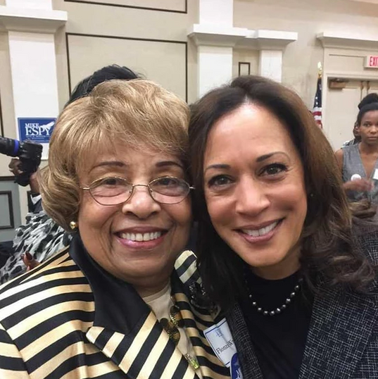 Flonzie and Senator Kamala Harris