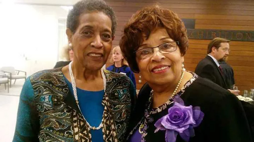 Mrs. Myrlie Evers and Flonzie