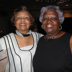 Flonzie and childhood friend Mamie Robinson