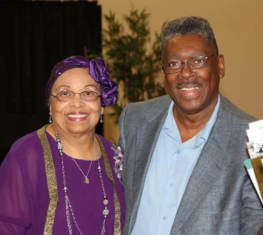 Flonzie and Pastor Pittman at Hanging Moss Church of Christ booksigning.