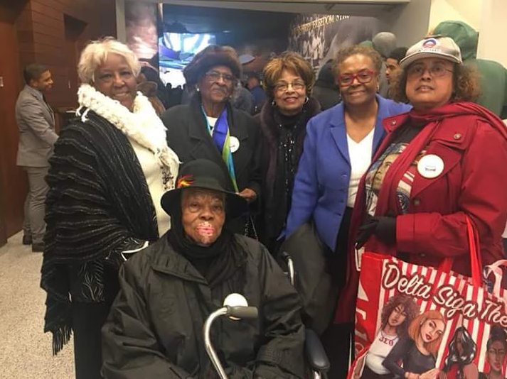 Freedom Fighters and Activists Dr. Joyce Ladner, Ellie & Bettie Dahmer, Peggy Conner and Flonzie