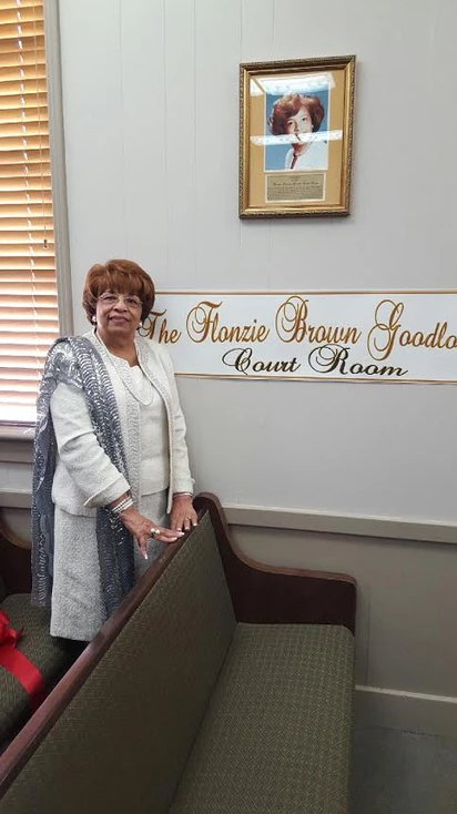 """The Canton, MS Courtroom in City Hall is renamed the """"Flonzie Brown Goodloe"""" Courthouse."""