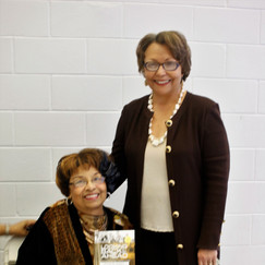 Flonzie & Dr. Beverly Hogan at Tougaloo College.