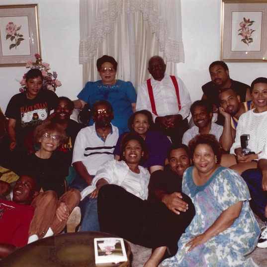 Family picture in 1994 for Flonzie's book signing in Canton, MS