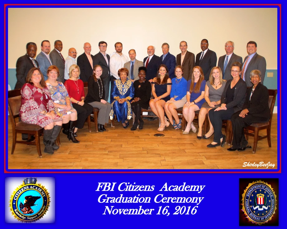 FBI Police Academy Group Picture where Flonzie graduated on November 16, 2016.