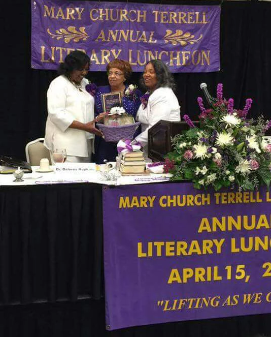 Mary Church Terrell Club honors Flonzie as the speaker for their annual Literary Luncheon.