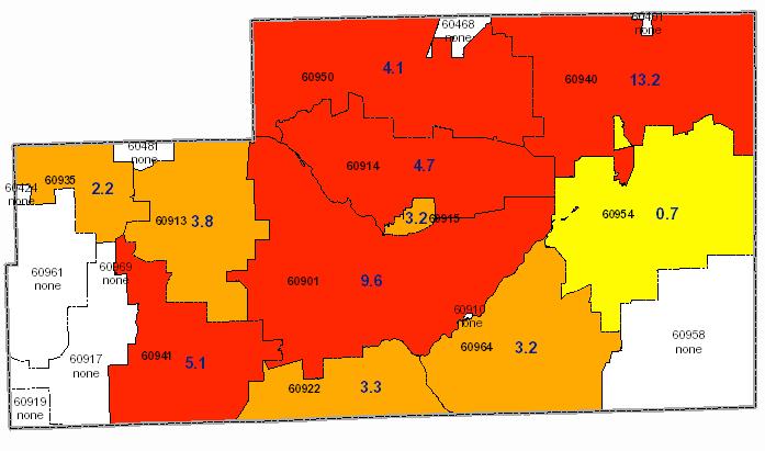 Kankakee County Radon Map