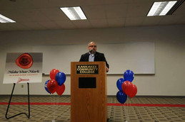 Jacob Carlile AIA Speaking at the Kankakee Econmic Alliance Enterprise-U Business Owner's Bootcamp launch