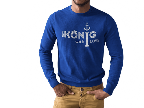 "Свитшот ""From Konig"" Blue"