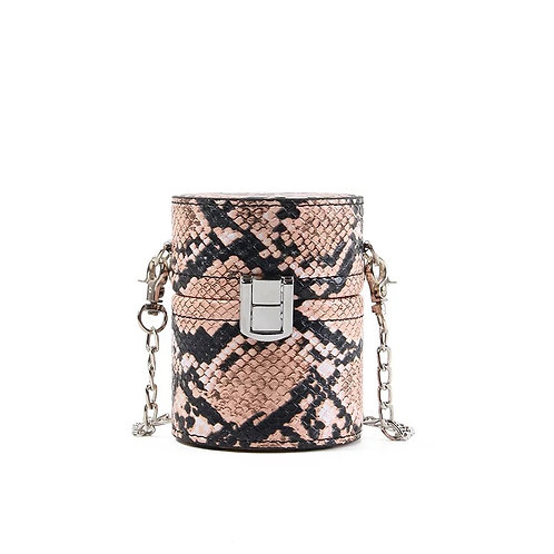 Little Chu'a Snake Box Purse-Pink