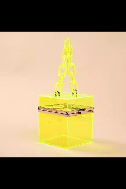 Love Chain Box Purse-Slime