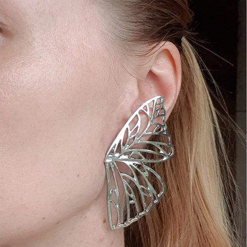 The Butterfly Effect Statement Earrings- Silver