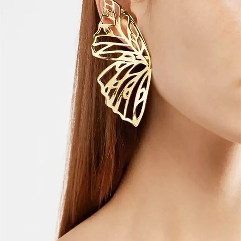 The Butterfly Effect Statement Earrings- Gold