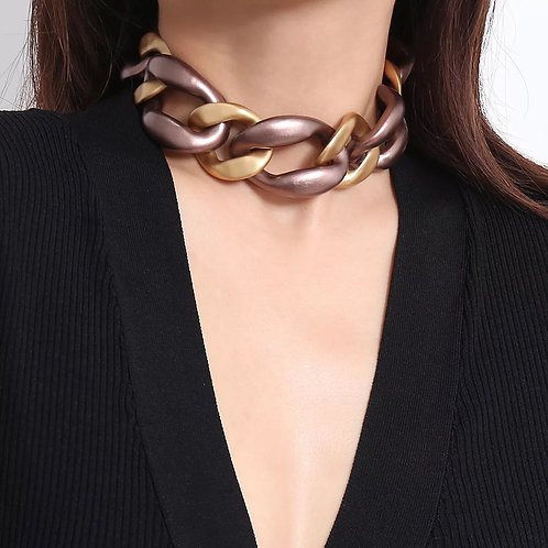 Get Linked Choker- Mocha