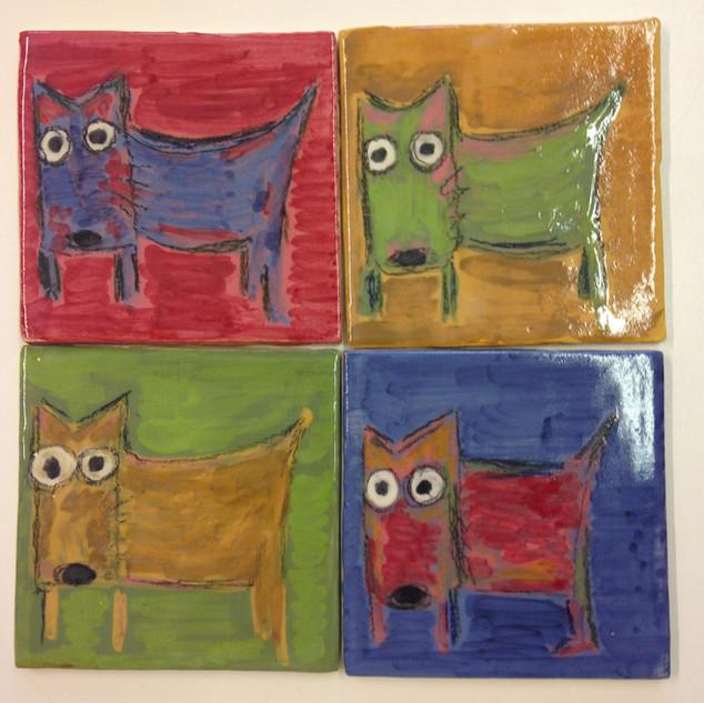 Four Tiles