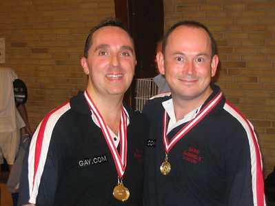 David King St Gabriel's gay badminton