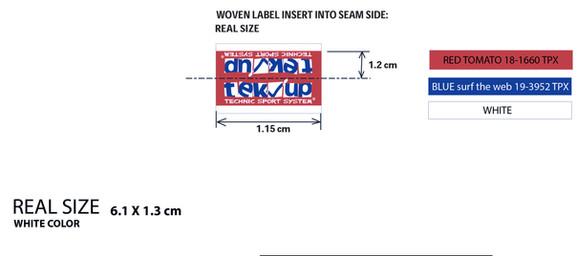 file graphique étiquette tissée