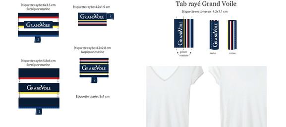 Files graphiques étiquettes tissées et tab