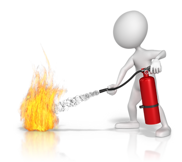 extinguishing a flame