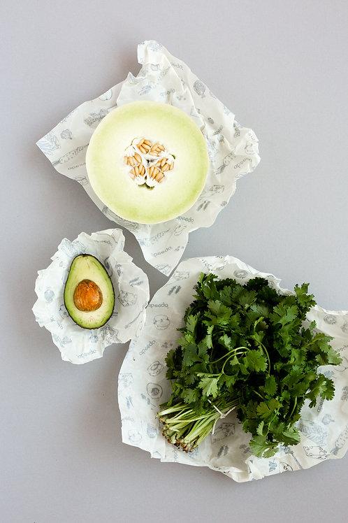 Abeego Variety Beeswax Food Wrap