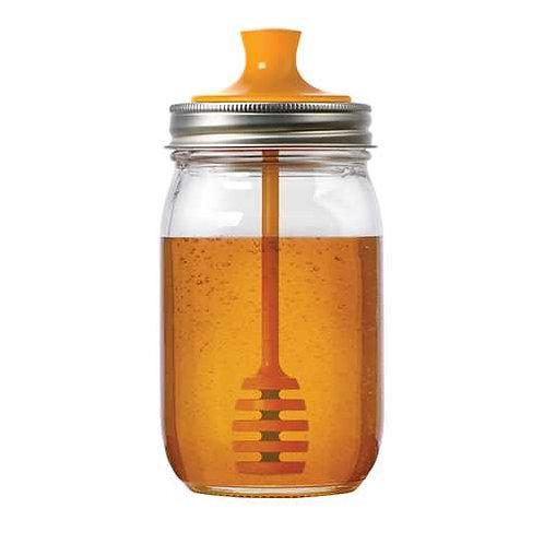 Mason Jar Honey Dipper