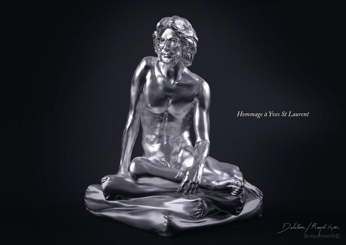 Hommage Yves saint laurent - Usine à sculptures
