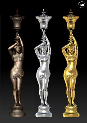 Cariatide Opéra Usine à sculptures