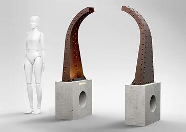 sculpture fragments pièce tour eiffel fragments d'histoire