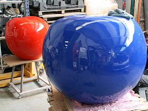 Fabrication pomme géante sculpture usine à sculptures
