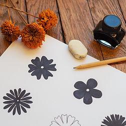 Dessin Tissu Fleur des pois - Artwist