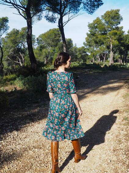 Inspiration couture  - Robe motif Bon Vent ! - Tissu en Coton Bio   Artwist
