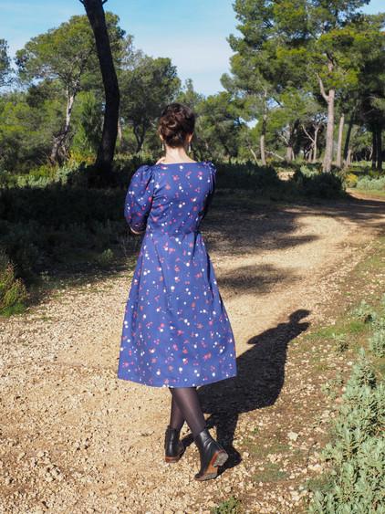 Idée couture - Robe Motif Flânerie- Tissu en Coton Bio | Artwist