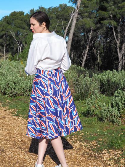 Inspiration couture  - Jupe motif Le Twist - Tissu en Coton Bio   Artwist