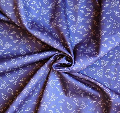 Tissu Coton Bio Envolée Bleue- Artwist