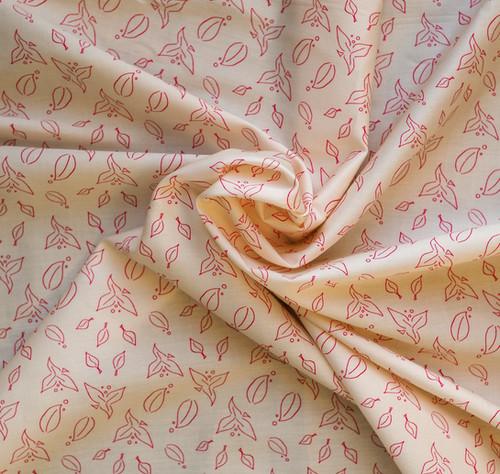 Tissu Coton Bio Envolée Rose - Artwist