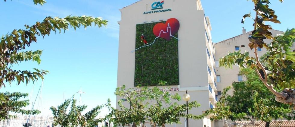 Green Up Vieux Port Marseille Mur végétal