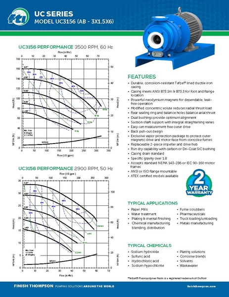 Centrifugal - UC3156 Technical Flyer